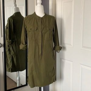 NEW LISTING! J.Crew utility dress in olive green